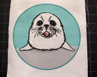 Happy Harp Seal Patch