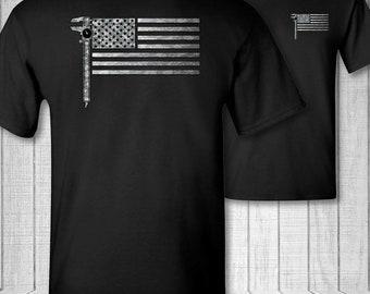 Millwright American Flag T-shirt, US flag millwright tee shirt, camouflage millwright shirt