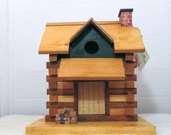 Log Cabin Bluebird house