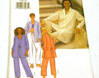 Butterick 3531 Misses/Petites Shirt Top and Pants (size 20 22 24)