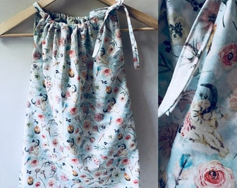 Girls dress, girls clothing, dress, deer, rustic, antler, floral, girls outfit, childrens apparel, toddler dress, toddler clothing