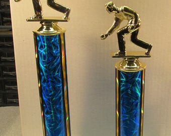 Bocce Ball Lawn Bowling Award M or F 1st & 2nd Place Free Engraving Free 2 Day Shipping Same Day!!