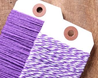 Purple Bakers Twine, Purple Twine, Purple String, Cotton Twine, Gift Wrap, Packaging, Baker's Twine, Cotton String, Bakers String  (15 yds)