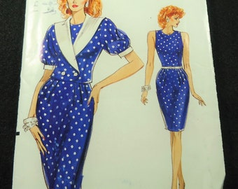 Very Easy Very Vogue Misses' Jacket And Dress Pattern 7443 Size 12,14, 16