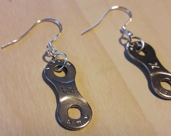 Up-Cycled Bicycle Chain Link Earrings