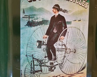 """HOWE vintage Bicycles Tricycles, Manufactured By """" THE machine C""""L"""" Glascow metal tray"""