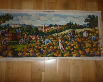 Tapestry, French Vintage, Large Tapestry, Wall Art, Tapestry, French Canvas, Wall Hanging, Wool Tapestry, Needlepoint Art, French Decor, Art