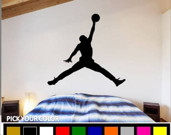 Jordan Wall Decal / Air Jordan Wall Decal / Michael Jordan Decal /  Basketball Decor /