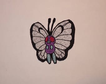 Butterfree Butterfly Pokemon Nintendo Embroidery Embroidered Iron On Patch