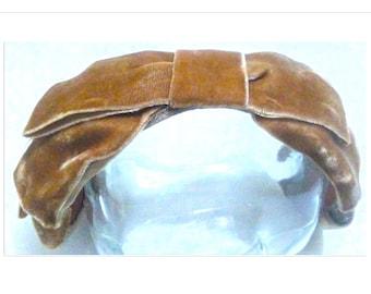 Velvet Crown Bow Hat