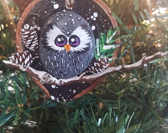 Winter Owl Ornament - 004