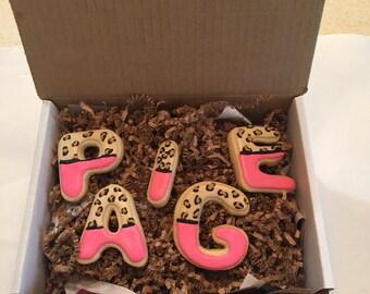 Cheetah Print Decorated Sugar Cookies