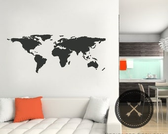 Large World Wall Decal