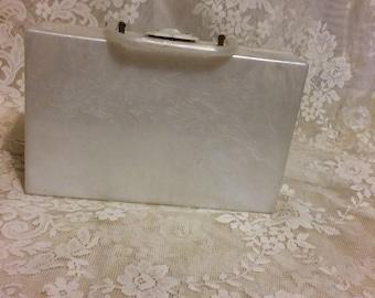 White Lucite Handbag