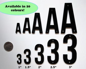"3"" Acrylic Letters Numbers Laser Cut Supplies Available in 5 sizes and 20 colours"