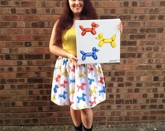 Balloon Dogs Painting, 40x40cm Box Canvas