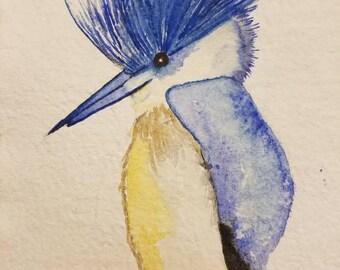 Fancy Bird Watercolor Painting - Wildlife Painting