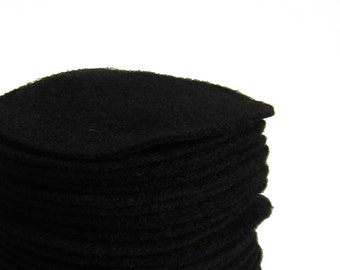 "30, Black Felt Circles 1"", 1.5"", 2"", 3"", 4"", 5"", 6"", 7"" and 8"" you choose the size"
