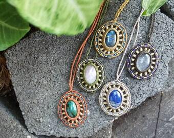 Assorted Boho Mandala Macrame Necklaces