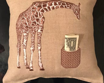 Tooth Fairy Pillow Giraffe