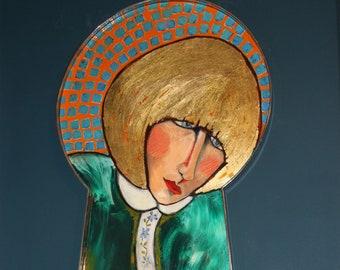Keyhole Portrait Blondie