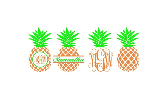 Download Pineapple SVG Files Pineapple Monogram Svg Pineapple Monogram