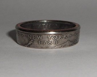 Sealed New York US quarter  coin ring size  or pendant