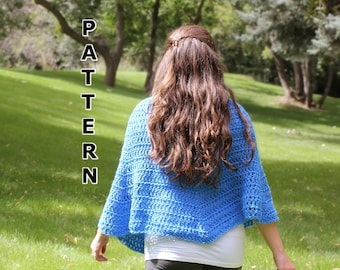 Crochet Pattern Shawl - Seashell-Inspired Shawl