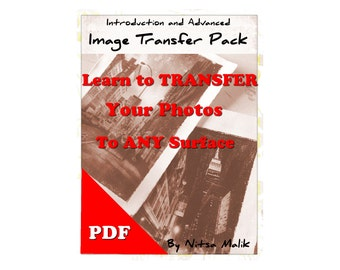 Image transfer tutorial pack  PDF  digital DOWNLOAD beginner advance eBook DIY Photo Art Guide Transfer Art How to Art technique class