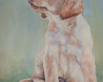 Labrador Retriever portrait CANVAS print of LA Shepard painting 8x10 yellow lab dog art