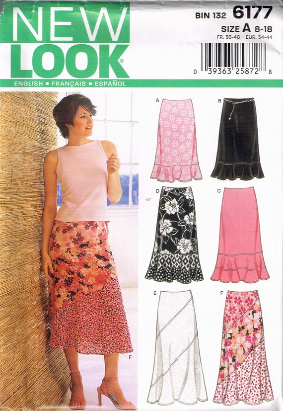 Size 8-18 Misses Skirt Sewing Pattern - A Line Bias Skirt Pattern ...