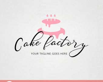 Custom Premade Food Logo Design - Cake Factory Bakery Decorator logo F007