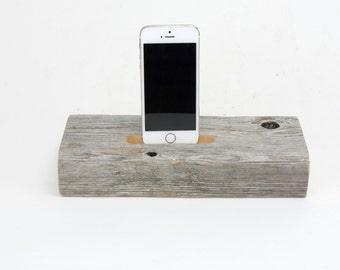 On Sale! Docking Station for iPhone, iPhone Charger, iPhone Charging Station, iPhone driftwood dock, wood iPhone dock/ Driftwood-No. 898
