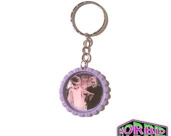 Universal Monsters The Bride Of Frankenstein Bottle Cap Horror Key Chain