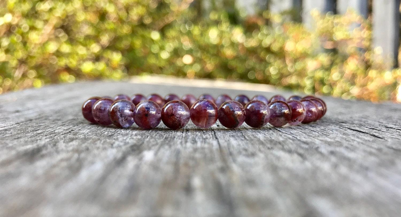 Dainty Auralite-23 Bracelet 6-7mm Rare Auralite 23 Gemstone
