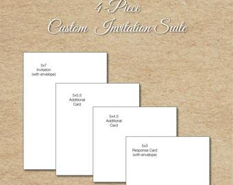 Custom Invitation Suite, 4-Piece