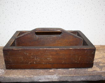 Vintage Wooden Tool Tote