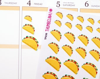 Taco Planner Stickers for Erin Condren, TN, Happy Planner and more (TP238)