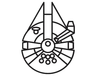 Millennium Falcon Decal Star Wars Themed Decal. Han Solo. Starwars.