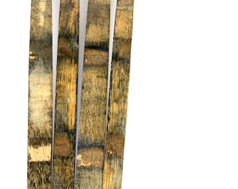 25 Bourbon Barrel Staves - Whiskey Barrel Staves - Reclaimed Oak - Rustic Wood - Barn Wood - Weathered Wood - DIY Material - American Oak