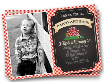 Farm Invitation Old McDonald Invitation Country Birthday Party Personalized Invitation Farm Printable Digital Invitation