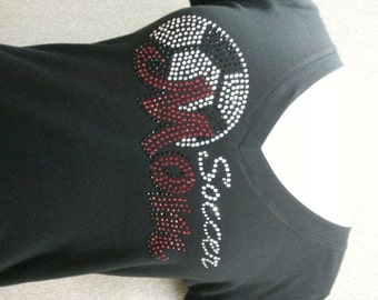 Black Vneck Soccer mom Tshirt