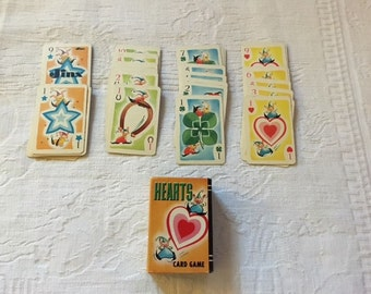 Vintage Hearts Card Game - Whitman Hearts - Whitman Hearts Game