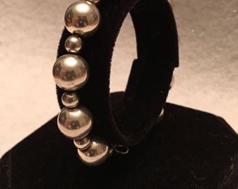 Bracelet-Beaded Sterling Silver