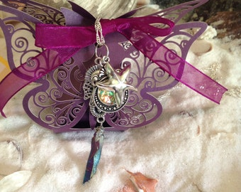 Sterling Silver Mermaid Charm Necklace