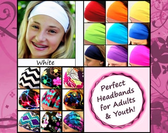 Fitness Headband - Workout Headband - Running Headband - Yoga Headband - Adults Youth Halo Color [White]