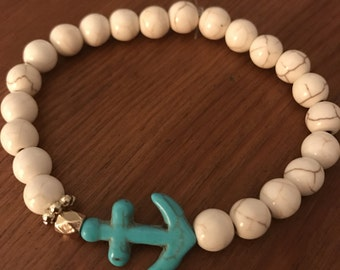 Grace And Glass Anchors Away Ivory Bracelet