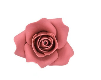Small Mauve Rose Sugar Flower Wedding Cake Topper