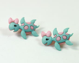 Turtle studs, Turtle earrings, Girly earrings, Girly studs