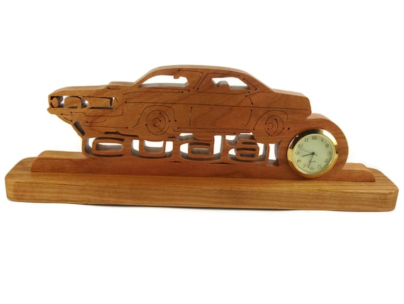 Barracuda Desk Or Shelf Art Clock Handmade From Cherry Wood By KevsKrafts